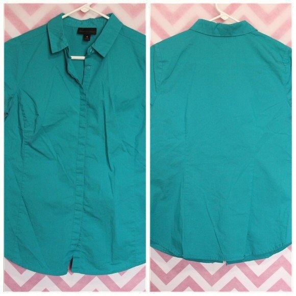 Worthington Tops - Worthington Teal Button-Up Shirt Size S